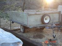 "2. - Utility trailer / 81"" wide x 97"" long / like new"
