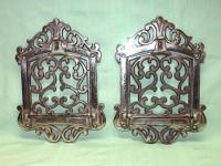 These ornate art nouveau style coal vents have hinged,