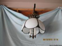 2 VICTORIAN SWAG LAMPS --- must be sold as a pair