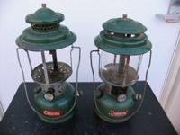 2 Vintage  Coleman gas lanterns  Asking $35 for the