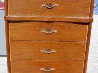 "Brown Dresser $40 4 Drawers 33 1/2""W x 17 3/4""D x 42"