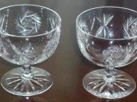 I have for sale two beautifully etched crystal sherbet/