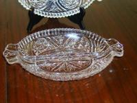 I have for sale 2 beautiful vintage glass two sided