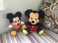 2 vintage Mickey Mouse packed toys. One is from