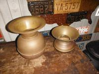 2 Vintage Rustic Spitoons: Interesting Collector