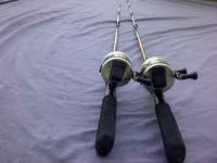 i have these 2 old zebco rod and reels,they both are in