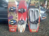 One O'Brien wakeboard and one Hyperlite wakeboard for