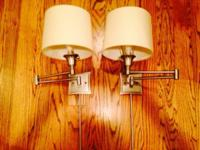 ( (. 2 House of Troy(Brand) Decorative Wall Swing Lamps