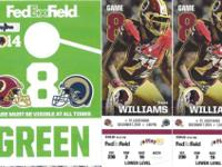 WASHINGTON REDSKINS VS ST. LOUIS RAMSDECEMBER 7, 2014.
