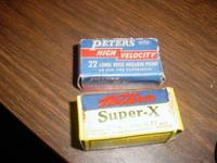 2 Western & Peters 22 CAL LONG RIFLE EMPTY AMMO BOXES -