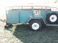 "2 Wheel Trailer, (Box) 5' x 10' steel floor. 30"" sheet"