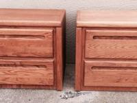 Two small cargo style matching (2) night stands with 2
