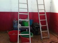 Type: Garden 2 x Aluminum Ladders One is 12' Tall -