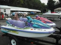 @ Yamaha jet ski's with a double trailer one is a 750