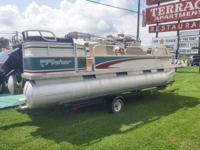 This is a 1997 20' Freedom 200 DLX Fisher Pontoon with