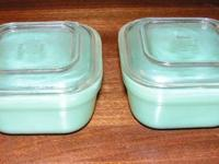 I have for sale for $20 each 2 Fire King jadeite