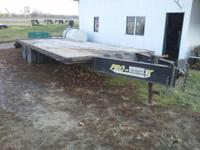 2007 Pro Trak 20+5 pintle hitch equipment trailer with