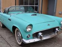 This 1955 Ford ThunderBird Convertible . It is equipped