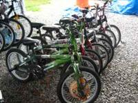 "I have Boys and Girls 20"" Bicycles that include Trick"