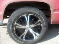20'' Chrome and Black wheels 5 lug full size chevy