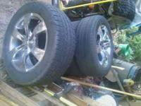 Good 20'' truck rims or car. they were on a 1996 ford