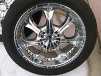 "!!!!! GOOD DEAL!!!! *** 20"" CHROME RIMS & TIRES !!! 6"