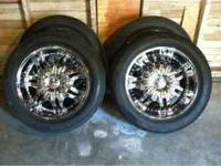 "I am looking to sell my 20"" pacer rims with the new"