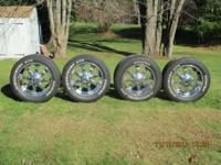MKW CHROME 20x9 WHEELS W/ COOPER DISCOVERER A.T.R.