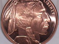 20 BU .999 pure Copper Indian Head coins  These