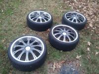 "I need to sell my set of 20"" Diamo rims. They are 5"