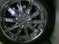 "20"" wheels in great cond. The tires are worn. They have"