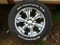 "For sale is a matching set of 4- 20"" wheels. 6x4.5"