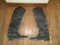Equestrian show boots size 8. Altered to fit slim calf