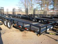 2011 Big Tex 7' x 20' Tandem Axle Equipment Trailer.