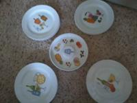 8 Margarita Appetizer Plates 1 Salt Rim Dish They are