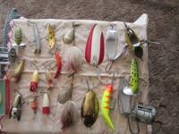 I have for sale 20 fishing lures a couple wooden bass
