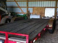 I am selling my 20 foot flat bed between the wheels