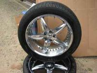 "Set of 20"" Chip ""Foose"" rims with 2 mounted brand new"