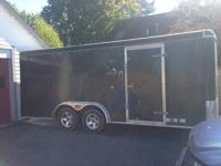 20 foot enclosed trailer dual axel 7000lb gvw great