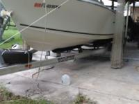 This is a 20 foot Sea Hunt deep water boat it has a