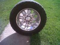 "IVE GOT A SET OF 20"" FORD F 250 OR 350 CHROME WHEELS W"