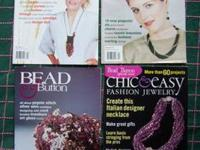 Back issue magazine copies of Bead & Button. Jewelry