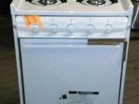 "Brand New 20"" Freestanding Gas Range with 4 Open"