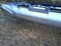 20 ft  Aluminum Pontoon frame - no deck. This is a