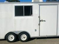 20' Enclosed Trailer totally wired throughout with
