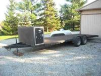 Very nice open 20ft open car trailer with front