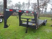 good solid 20 ft gooseneck trailer flatbed , has new 2