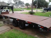 20 ft gooseneck trailer with dovetail and ramps it also