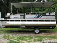 1992 Harris float boat 20 ft with drive on trailer,