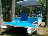 1978 Landau 20 ft pontoon watercraft. Features a 1960